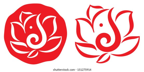 Ganesha Symbol Design Vector 4