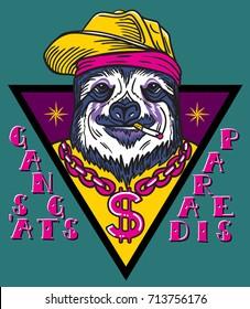 gangsta sloth
