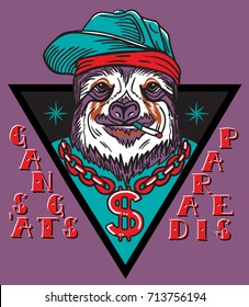 d4489b28036 gangsta sloth in triangle