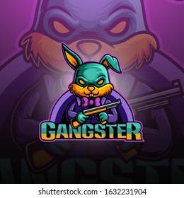 Gangster Bunny esport mascot logo design