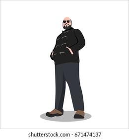 gangster man flat illustration