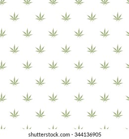 Ganja Marijuana Weed Seamless Pattern Vector