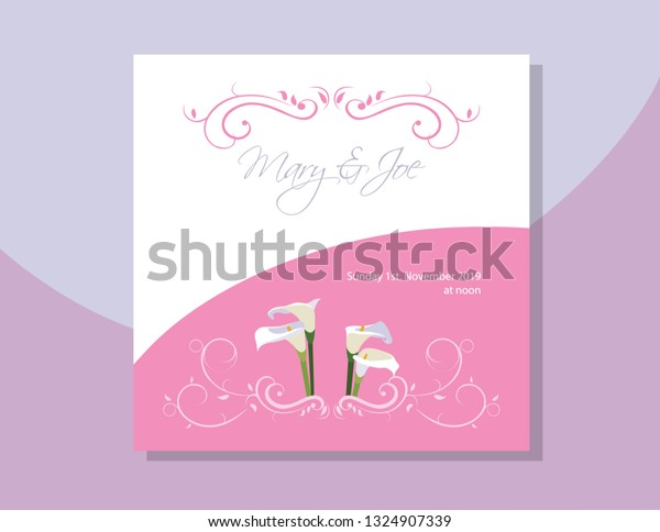 Gannet Invitation Card Social Event Stock Vector Royalty