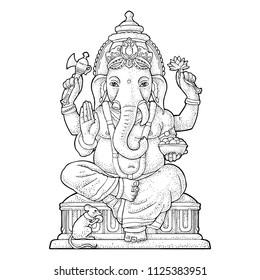 Ganesh Ji Drawing Art