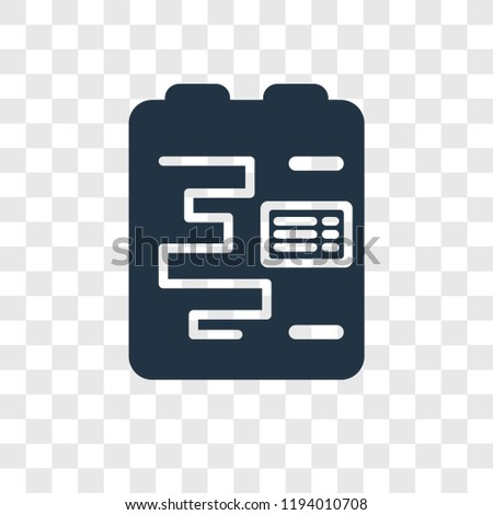 Gantt Chart Vector Icon Isolated On Stock Vector Royalty Free