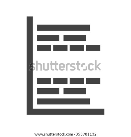 gantt project chart icon vector image stock vector royalty free