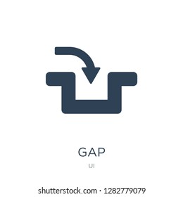 gap icon vector on white background, gap trendy filled icons from UI collection, gap vector illustration