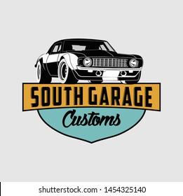Garage custom logo vector 3