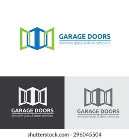 Garage Doors Vector Logo Template