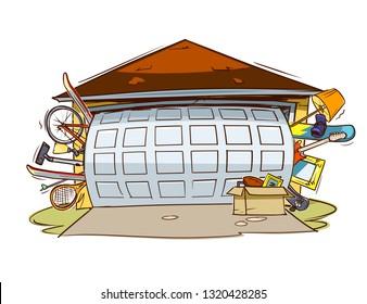 Garage full of stuff