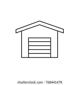 garage icon illustration isolated vector sign symbol