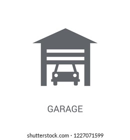 Garage icon. Trendy Garage logo concept on white background from Smarthome collection. Suitable for use on web apps, mobile apps and print media.