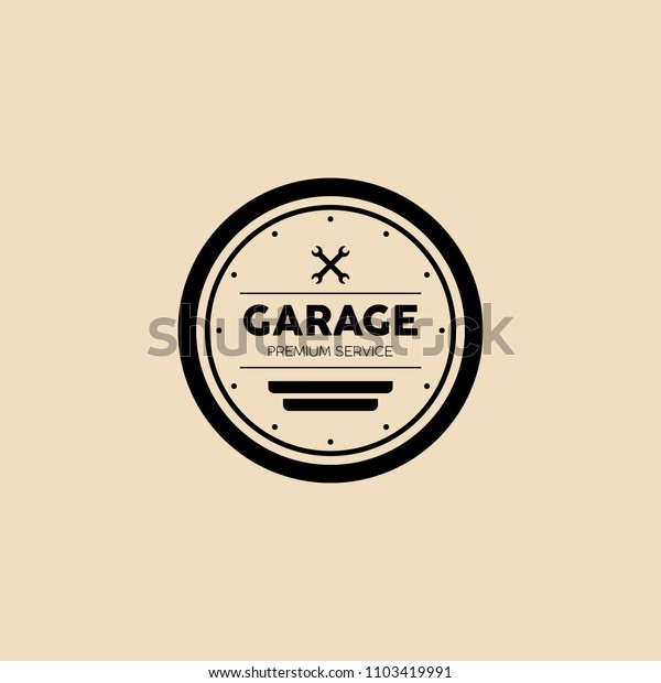 Garage Logo Design Royalty Free Stock Image