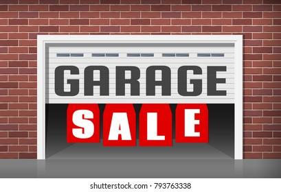 garage sale concept illustration