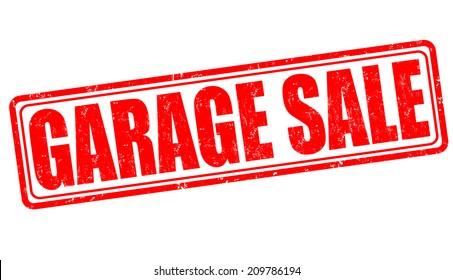 Garage sale grunge rubber stamp on white, vector illustration
