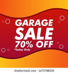 Garage sale special offer, Sale banner template design