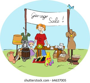 Garage sale - vector.