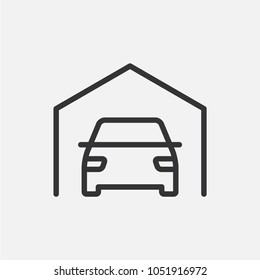 Garage. Simple linear icon