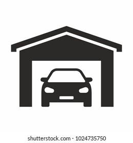 Garage vector icon