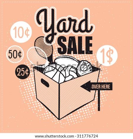 garage yard sale signs box household のベクター画像素材