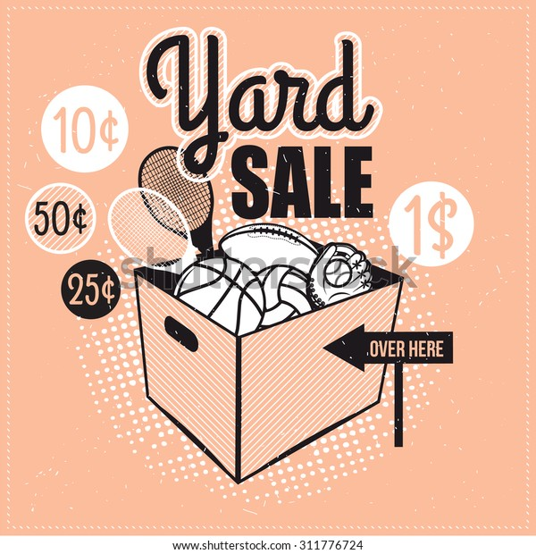 graphic about Printable Garage Sale Signs known as Garage Backyard garden Sale Indicators Box House Inventory Vector (Royalty
