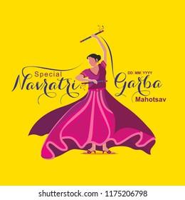 Garba Navratri Mahotsav, Garba Night, Dandiya Nights, Dandiya Night Celebration, Couple Playing Dandiya, Dandiya Dance in Navratri.