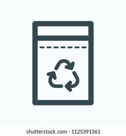 Garbage bags vector icon
