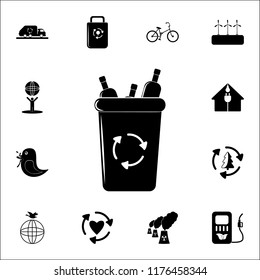 garbage bin icon. Ecology icons universal set for web and mobile