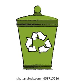 garbage can eco freindly related icon image