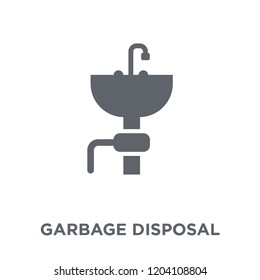 garbage disposal icon. garbage disposal design concept from Electronic devices collection. Simple element vector illustration on white background.