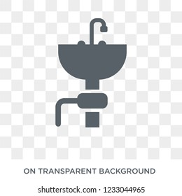garbage disposal icon. garbage disposal design concept from Electronic devices collection. Simple element vector illustration on transparent background.