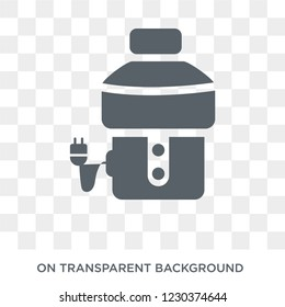 garbage disposal icon. Trendy flat vector garbage disposal icon on transparent background from Electronic devices collection.