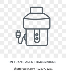 garbage disposal icon. Trendy flat vector garbage disposal icon on transparent background from Electronic devices collection. High quality filled garbage disposal symbol use for web and mobile