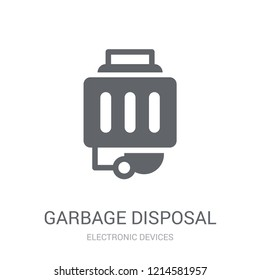 garbage disposal icon. Trendy garbage disposal logo concept on white background from Electronic Devices collection. Suitable for use on web apps, mobile apps and print media.