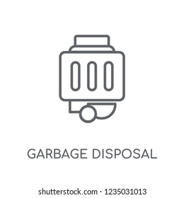 garbage disposal linear icon. Modern outline garbage disposal logo concept on white background from Electronic Devices collection. Suitable for use on web apps, mobile apps and print media.
