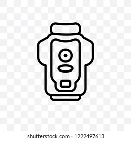 garbage disposal vector linear icon isolated on transparent background, garbage disposal transparency concept can be used for web and mobile
