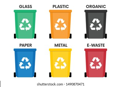 Garbage  Flat Design Icon Vector