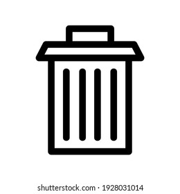 garbage icon or logo isolated sign symbol vector illustration - high quality black style vector icons