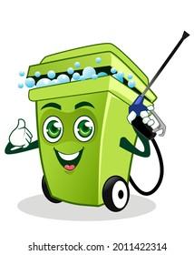 garbage mascot cartoon in vector
