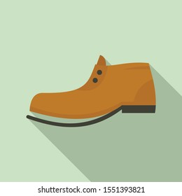 Garbage shoe icon. Flat illustration of garbage shoe vector icon for web design