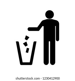 Garbage sign icon