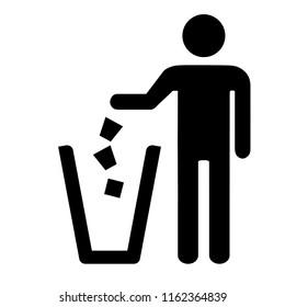 Garbage symbol. Do not litter sign.