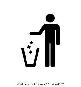 Garbage symbol. Do not litter sign. Trash icon. Logo on white background.