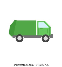 garbage truck flat icon