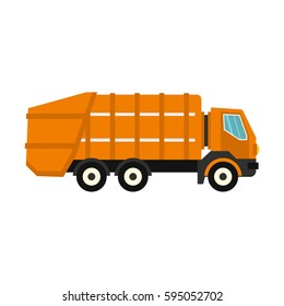 Garbage truck icon isolated on white background vector illustration