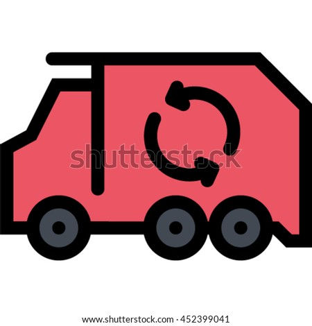 Garbage Truck Outline Icon