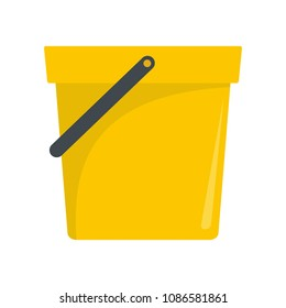 Garden bucket icon. Flat illustration of garden bucket vector icon for web