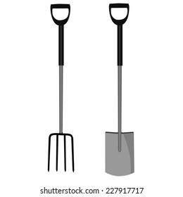 Garden fork, garden shovel, gardening, pitchfork, garden tool