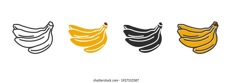 Garden fresh banana icon. banana fruits healthy lifestyle symbol template for graphic and web design collection logo vector illustration