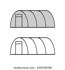 Garden greenhouse. Vector drawing. Isolated object on white background. Isolate.
